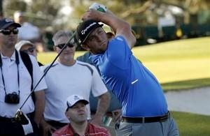 Jon Rahm, en una de las salidas de Augusta, donde se estrena esta temporada