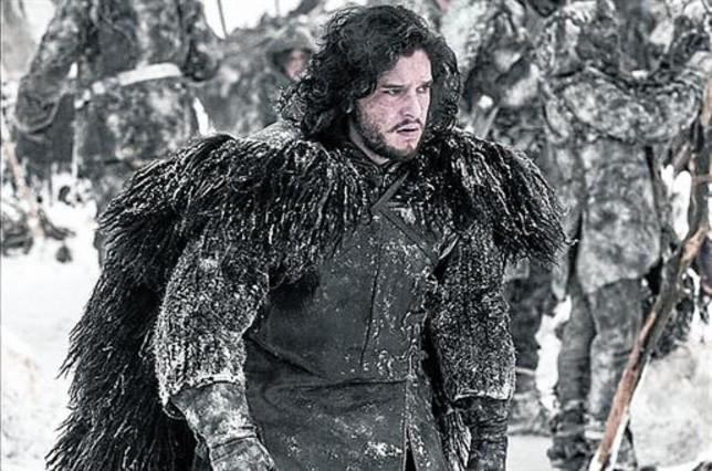 Kit Harington, como Jon Nieve, en 'Juego de tronos'.