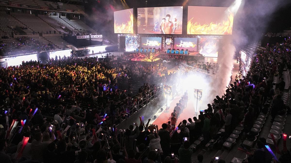 Competición internacionaldel videojuego League of Legends en el Palau Sant Jordi de Barcelona, en diciembre del año pasado.