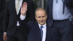 El líder del Fianna Fáil, después de ser oficialmente elegido primer ministro de Irlanda, el 27 de junio.