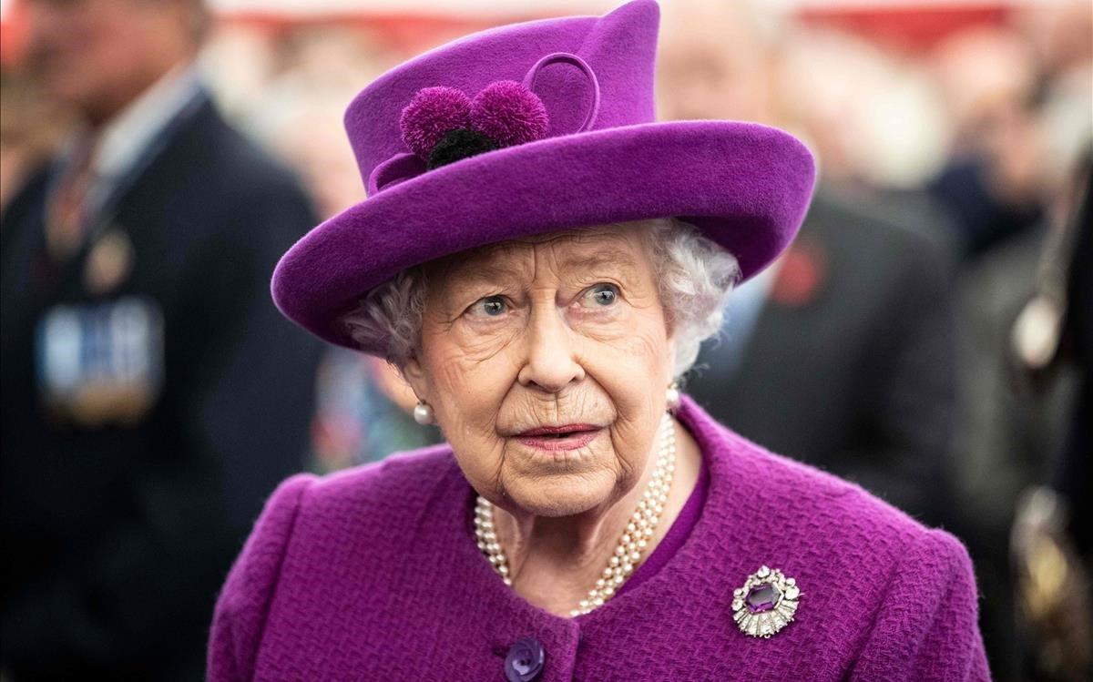 Isabel II, este miércoles en unacto en el sur de Londres.