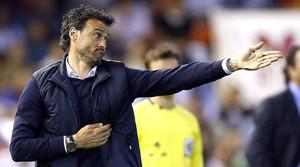 Luis Enrique, durante su último partido como entrenador del Celta.