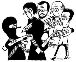 Viñeta en apoyo a Charlie Hebdo.