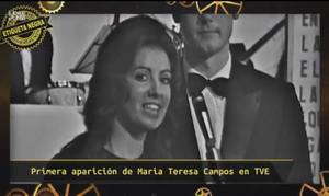María Teresa Campos, en su primera aparición en TVE-1.