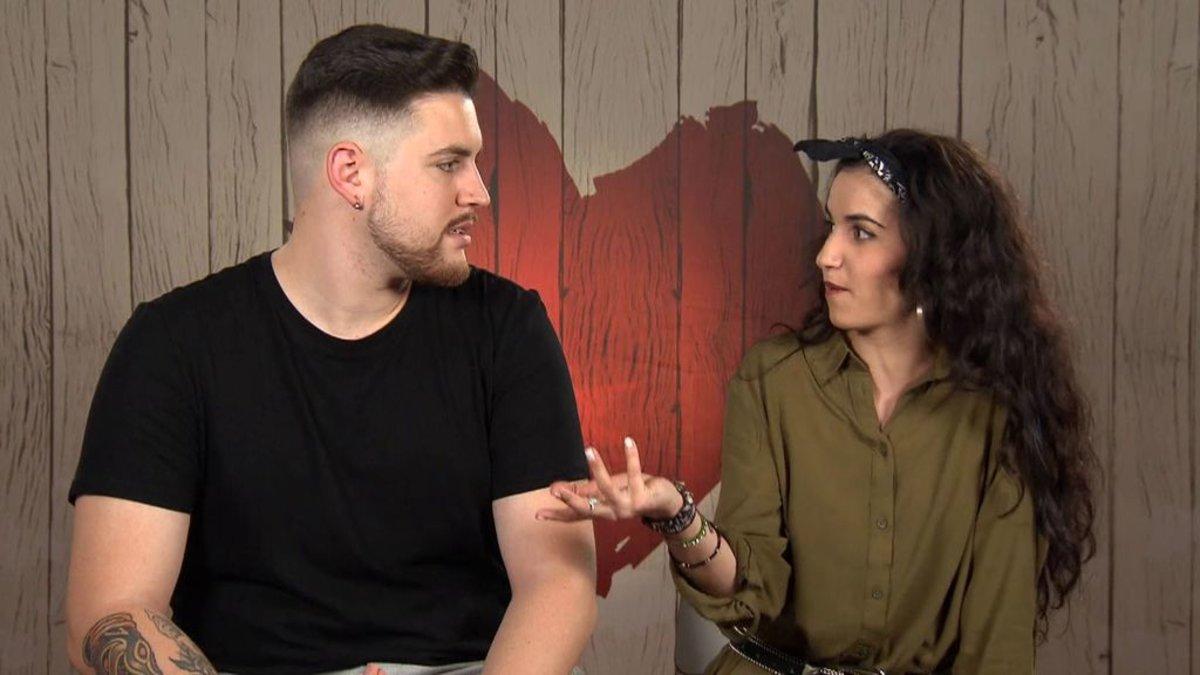Marina y Kevin en 'First Dates'.