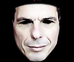 Mem de Varufakis emulant la màscara de la pel·lícula 'V de Vendetta'.