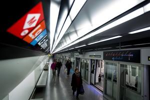 Estación de metro de la L9 de la Sagrera.
