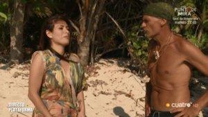 Miriam Saavedra y Carlos Lozano en Supervivientes.