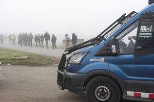 Movilización de los CDR en Alcarràs, Lleida, el pasado 21 de diciembre.