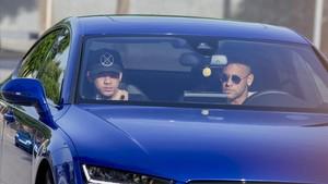 Neymar llega a la Ciutat Esportiva.