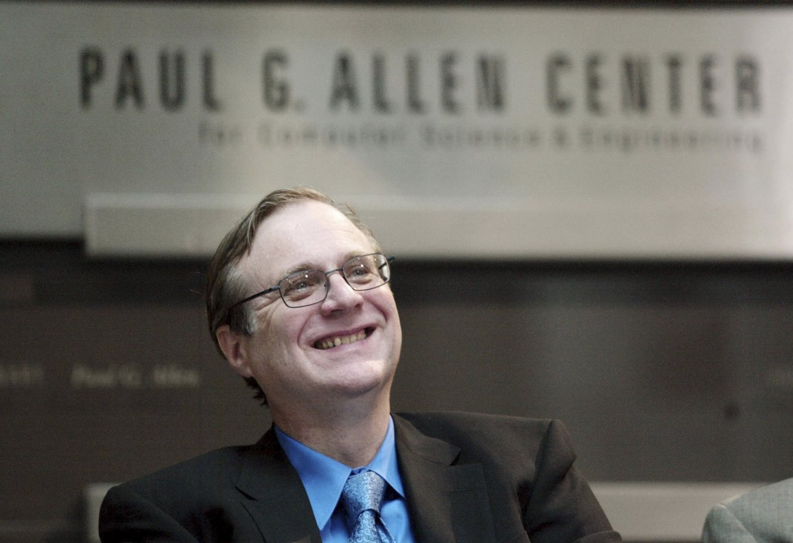 Paul Allen  Microsoft co-founder for the dedication of the Paul G  Allen Center for Computer Science and Engineering at the University of Washington in Seattle  Allen  billionaire owner of the Trail Blazers and the Seattle Seahawks and Microsoft co-founder  died Monday  Oct  15  2018 at age 65  Earlier this month Allen said the cancer he was treated for in 2009  non-Hodgkina  s lymphoma  had returned    AP Photo John Froschauer  File