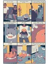 Páginade una historia corta de Kensausage (Cristian Robles), que forma parte dela nueva revista de cómic Voltio.