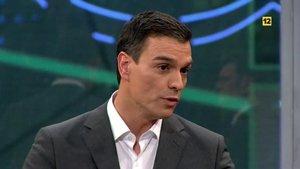 Pedro Sánchez en 'laSexta noche'.