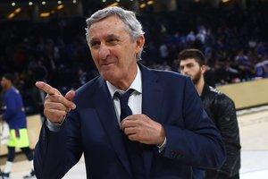 Pesic reacciona tras una de sus victorias en un partido de Euroliga