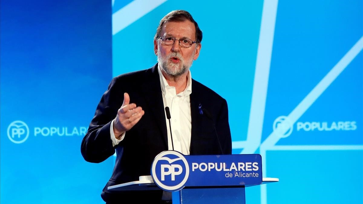 Rajoy, en un mitin del PP.