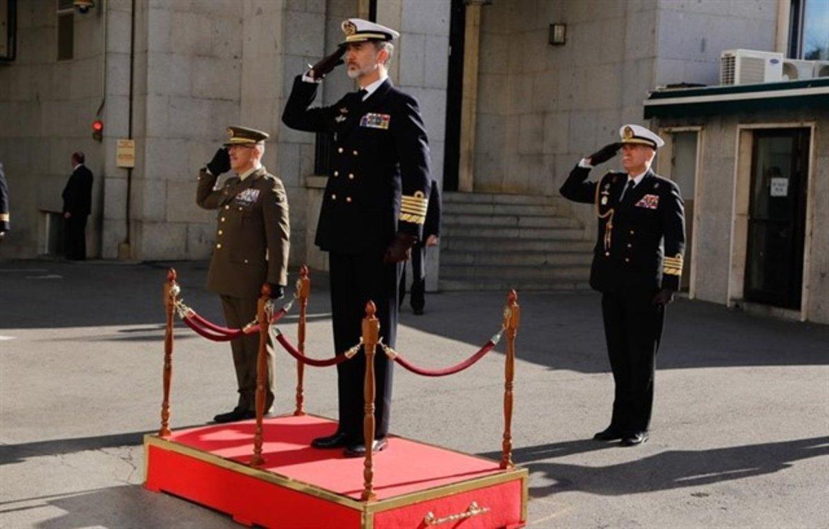 El Rey Felipe VI visita el Cuartel General del Estado Mayor de la Defensa.