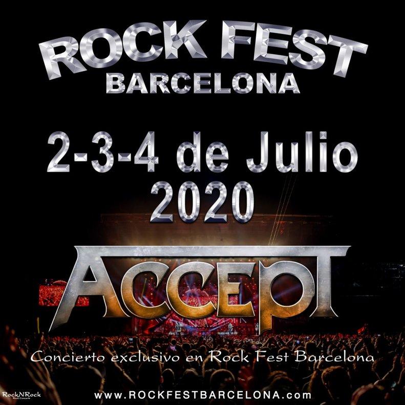 Cartel del Rock Fest Barcelona 2020.