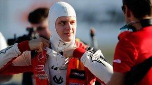 Mick Schumacher, en el circuito de Hocenheim (Alemania).