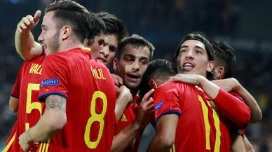 La mágica zurda de Saúl guía a España a la final del Europeo sub-21
