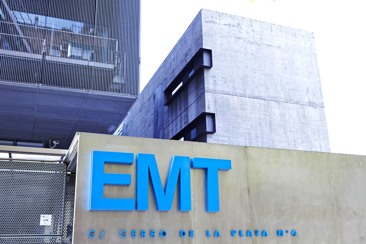 La sede central de la EMT de Madrid.
