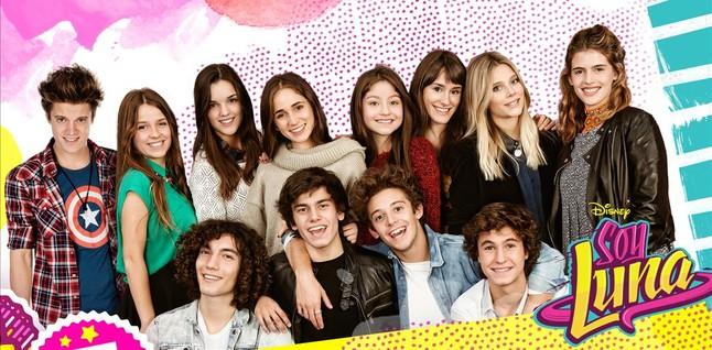 El elenco de actores de 'Soy Luna', la nueva telenovela juvenil de Disney Channel.