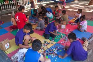 Espacio amigable de Save the Children en Juchitán (Oaxaca).