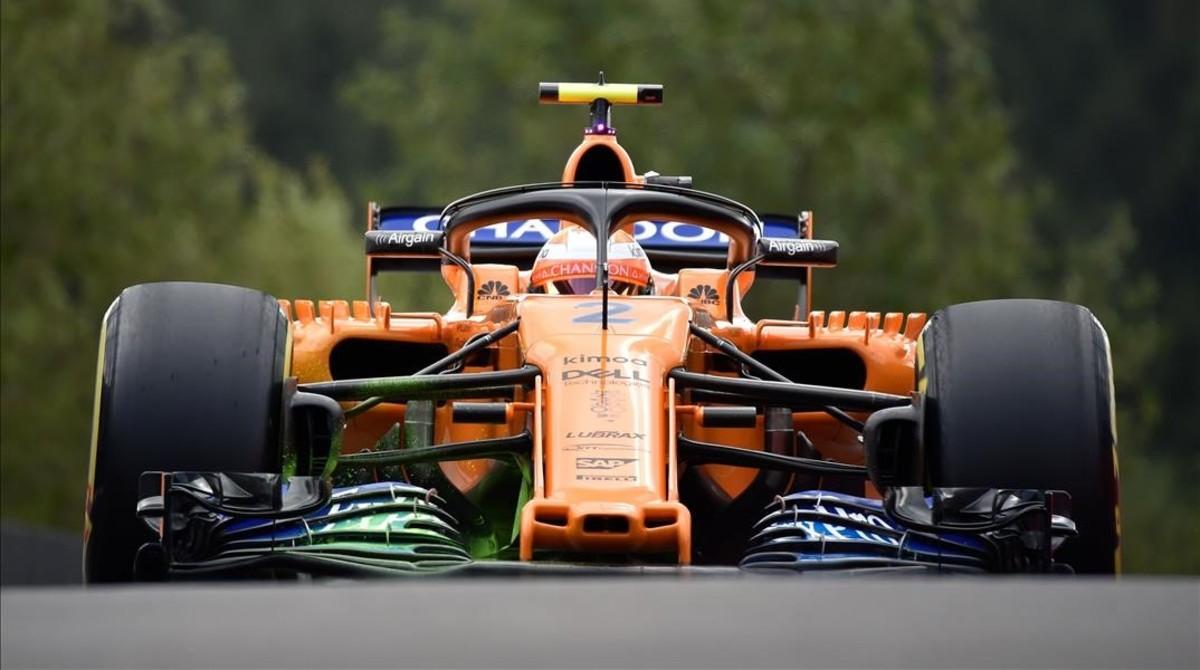 Stoffel Vandoome tampoco ha sido capaz de hacer correr al McLaren, hoy, en Spa.