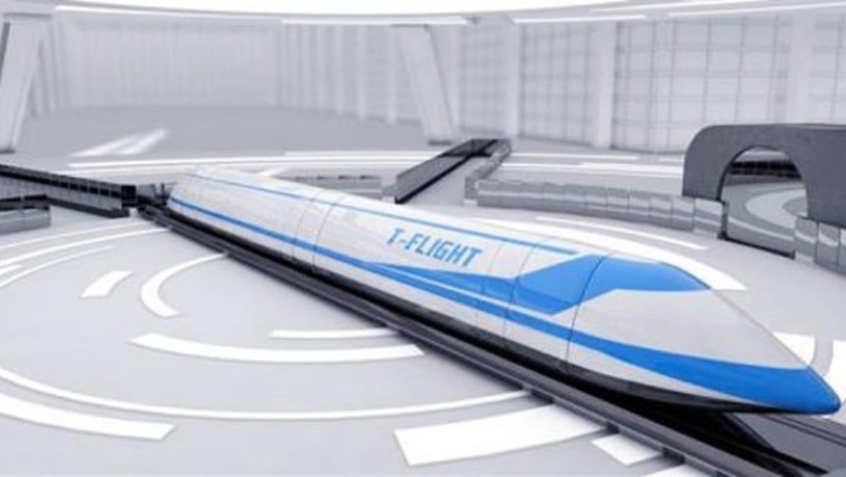 El tren volador capaz de alcanzar los 4000 kilómetros por hora.