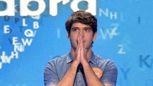 David Leo García, tras hacerse con el bote millonario de Pasapalabra, en Tele 5.