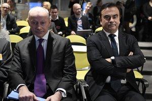 Thierry Bolloré (izquierda) asume los poderes de Carlos Ghosn durante la investigación.