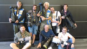 Tino Martino, Alejandro Ceresuela, Gigi Soldano, Jesús Robledo y Diego Sperani, de pie. Alex Farinelli, Mirco Lazzari y Jeime Olivares, sentados.