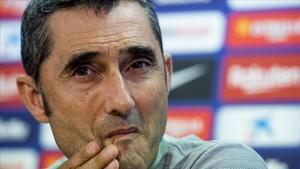 Valverde, en la rueda de prensa previa al duelo contra el Valladolid.
