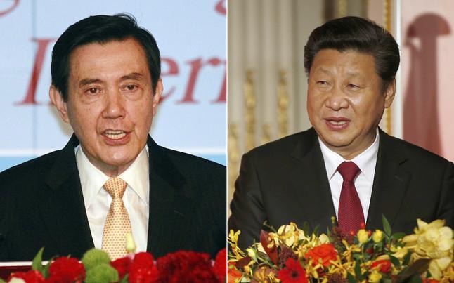 Los presidentes de Taiwán, Ma Ying-jeou, y el de China, Xi Jinping (derecha).