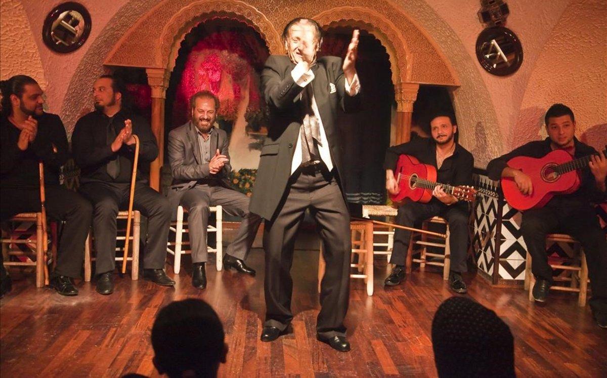 Actuación en el tablao flamenco de la Rambla.