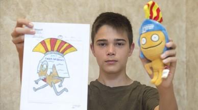 """Aleix Girona: """"El casco romano fue lo que hizo que ganara mi dibujo"""""""