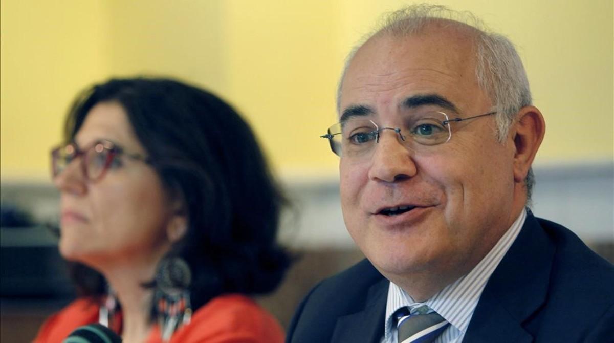 El juez Pablo Llarena, en una mesa redonda reciente.