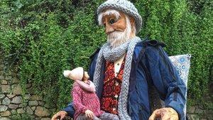 Imagen del Señor Invierno que representará las fiestas navideñas en Barcelona este año.