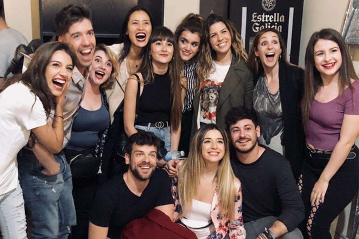 Los concursantes de 'OT 2017' se reúnen para apoyar a Nerea durante su debut en 'La llamada'