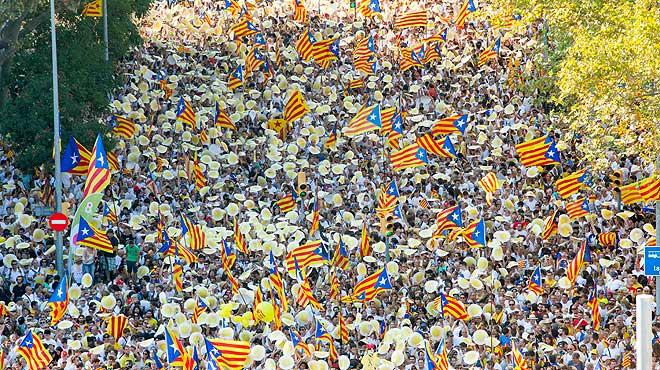 Diada 2016 en Barcelona
