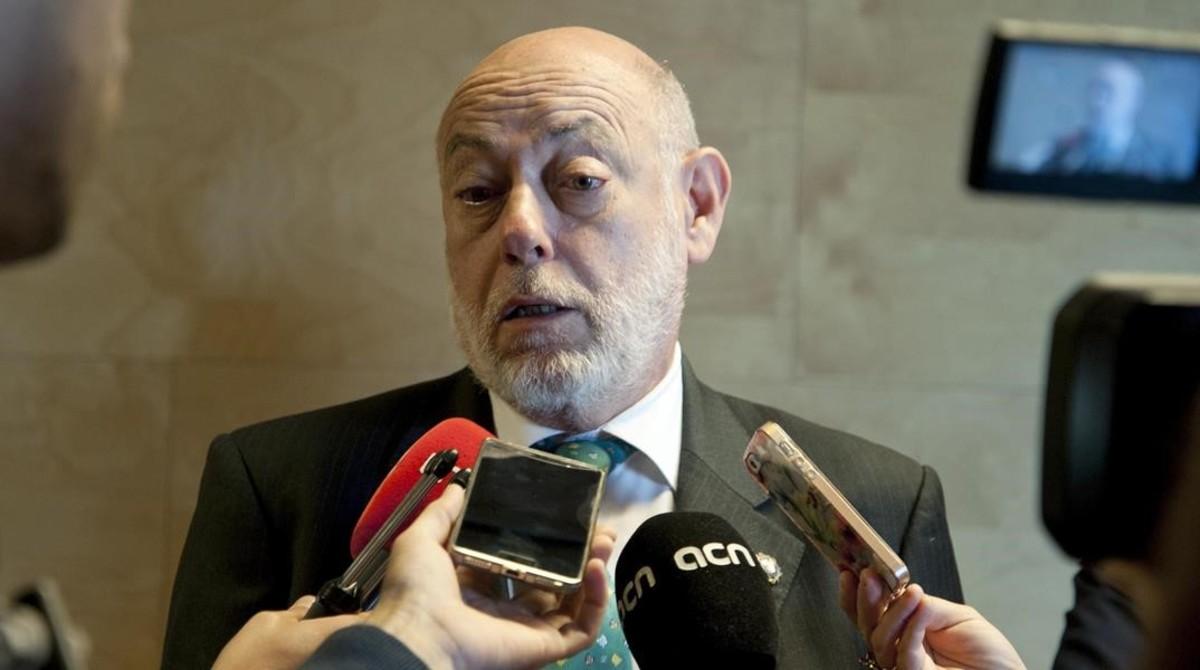 El fiscal general del Estado, José Manuel Maza, este martes en Girona.
