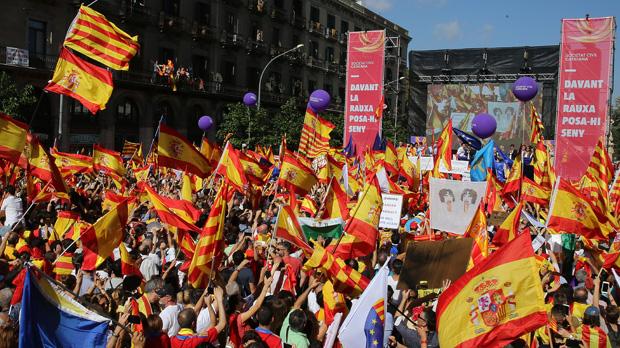 Manifestación de los unionistas