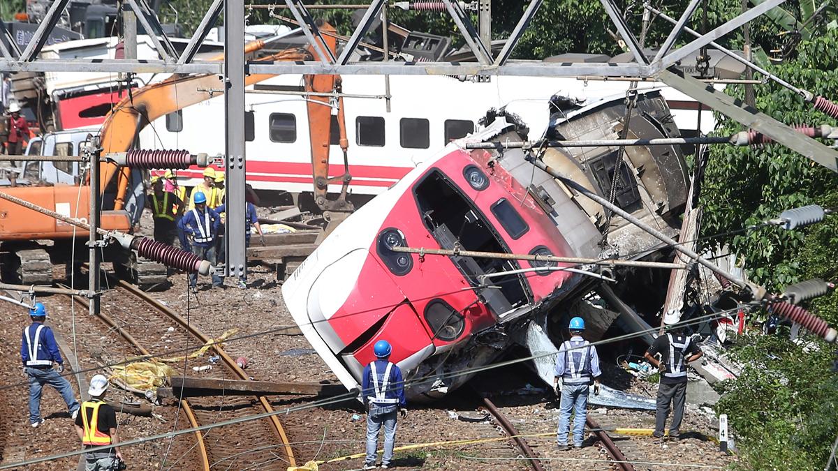 Accidente de tren en Taiwán