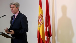 Ángel Garrido, hoy en la Asamblea de Madrid.