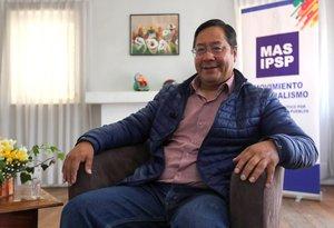 Luis Arce, virtual nuevo presidente de Bolivia.