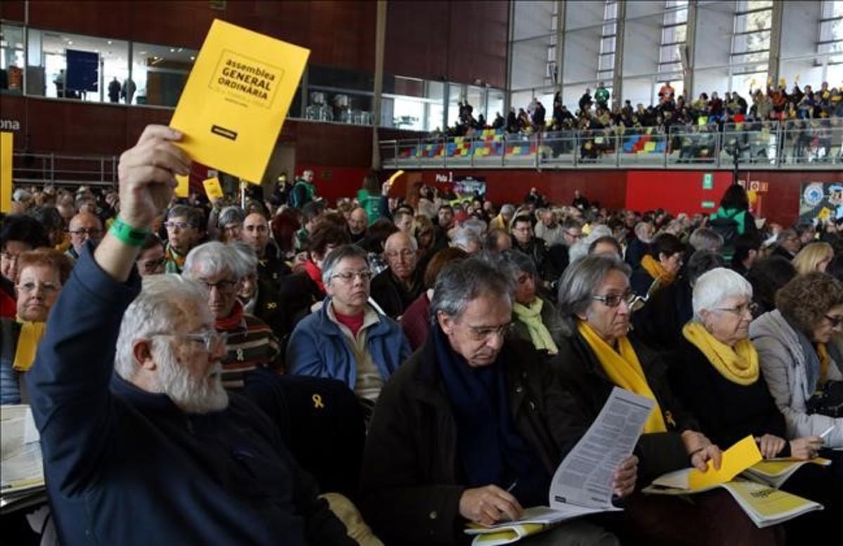 Imagen de la asamblea general de la ANC, el pasado 25 de febrero