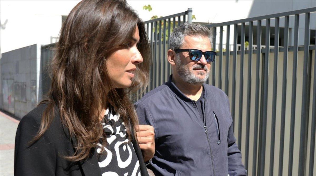 Miki Nadal, a su llegada al Juzgado de Violencia contra la Mujer de Madrid.