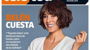 Belén Cuesta, en la portada de 'Teletodo'.