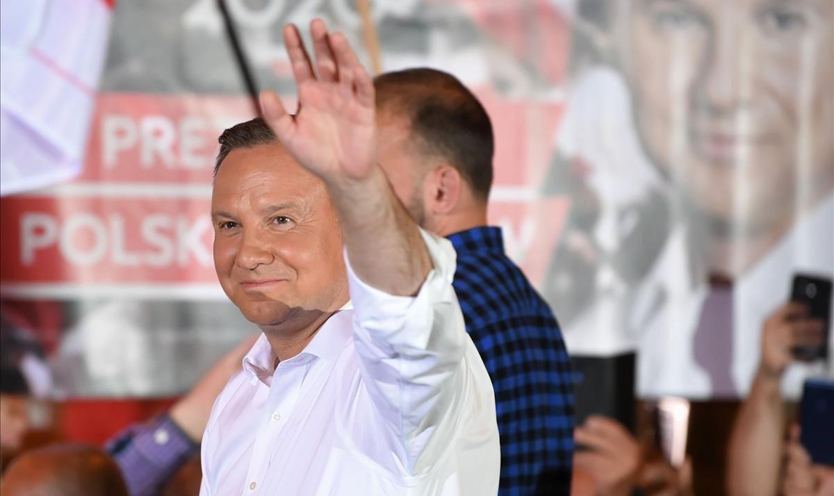 El candidato del PiS, Andrzej Duda.