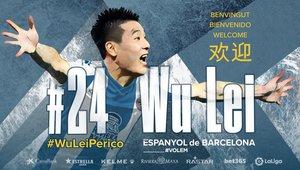 L'Espanyol fitxa el davanter xinès Wu Lei