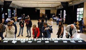 El colegio electoral del Centre Cívic La Sedeta.